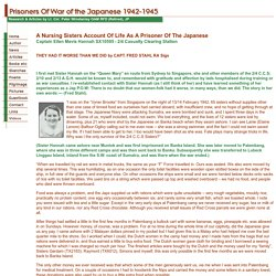 Prisoners of War of the Japanese 1942-1945 - A Nurse's Account