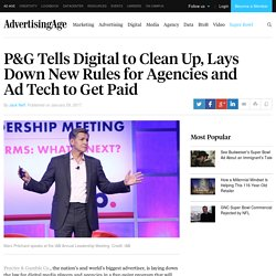 P&G's Pritchard Calls for Digital to Grow Up, Clean Up