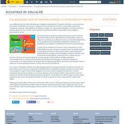 Dos guías para que los menores protejan su privacidad en internet - DetalleActualidad