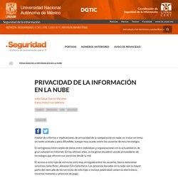 Privacidad de la Información en la Nube