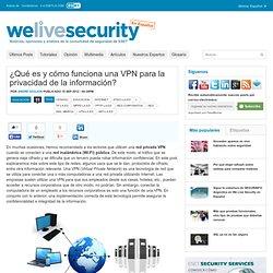 ¿Qué es y cómo funciona una VPN para la privacidad de la información?