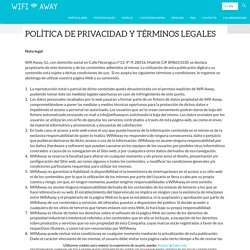 Política de privacidad y Términos LegalesPrivacy Policy and Legal Terms - Wifi Away