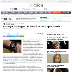 Privacy Challenges Lie Ahead of the Apple Watch