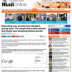 Google privacy policy changes: How to keep your web history private - simple 3-step solution