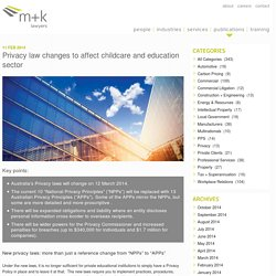 Privacy law changes to affect childcare and education sector - m+k Lawyers