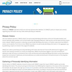 Privacy Policy – Sma2z, Web Design & Digital Marketing Company