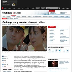 Online privacy erosion dismays critics - Technology & Science