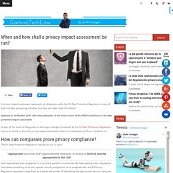 When and how shall a privacy impact assessment be run?