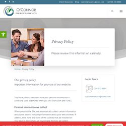 Privacy Policy - O'Connor Insurance Associates, Inc