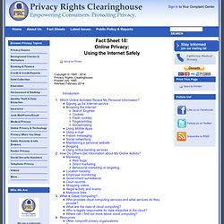 Privacy and the Internet: Traveling in Cyberspace Safely