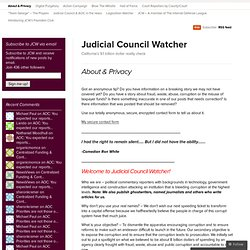 About & Privacy « Judicial Council Watcher