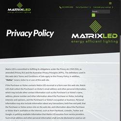 led lighting products Australia - MatrixLEDMatrixLED