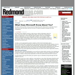 Privacy: What Does Microsoft Know About You?