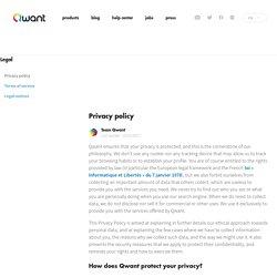 Politique de protection des données – À propos de Qwant