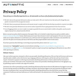 Privacy Policy — Automattic