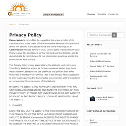 Privacy Policy - cameraable.com