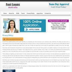 Privacy Policy - Fast Loans Australia