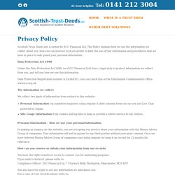 Scotland Trust Deed Help