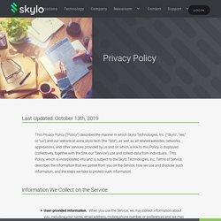Privacy Policy: Skylo Technologies