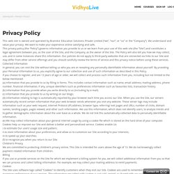 Privacy Policy - VidhyaLive