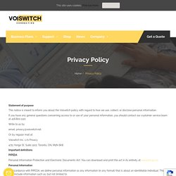 Privacy Policy - Voiswitch
