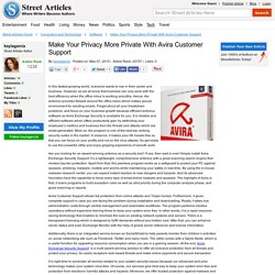 Make Your Privacy More Private With Avira Customer Support
