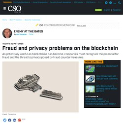 Fraud and privacy problems on the blockchain