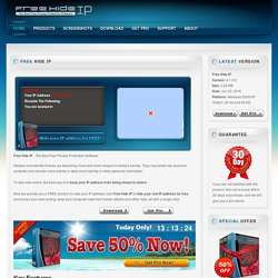 Free Hide IP - The Best Free Privacy Protection Software