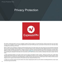Privacy Protection Tips