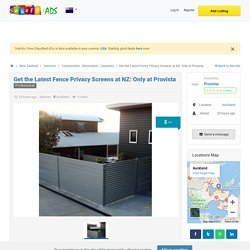Get the Latest Fence Privacy Screens at NZ: Only at Provista