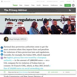 Privacy regulators and their many hats
