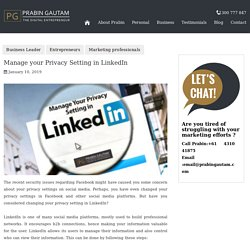 Manage your Privacy Setting in LinkedIn