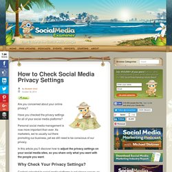 How to Check Social Media Privacy Settings