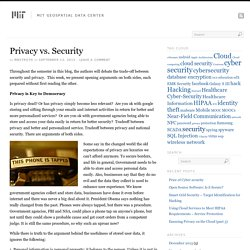 Privacy vs. Security
