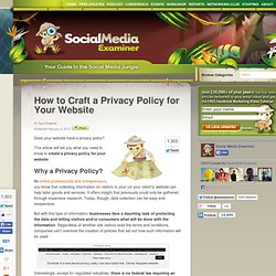 How to Craft a Privacy Policy for Your Website