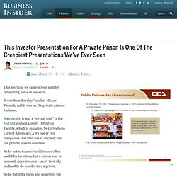 The Private Prison Business