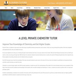 A Level Private Chemistry Tutors London