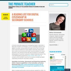 A Reading List for Digital Citizenship in Secondary Schools