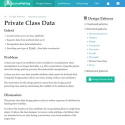 Private Class Data