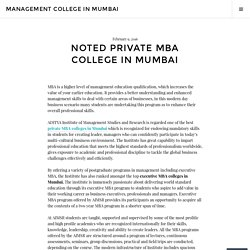 Noted Private MBA College in Mumbai – Management College in Mumbai