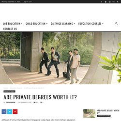Are Private Degrees Worth it?