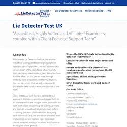 About Us - The UK's #1 Private Lie Detector Test Provider