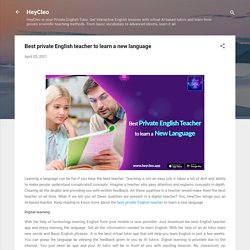 Best private English teacher to learn a new language