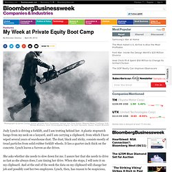 My Week at Private Equity Boot Camp