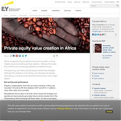 Private equity value creation in Africa