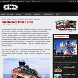 Private Boat Calico Bass