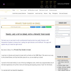 Best Private Tour Guide in Israel