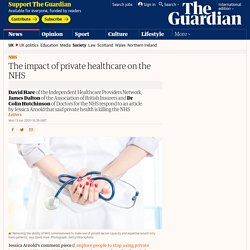 The impact of private healthcare on the NHS