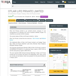 OTLAR LIFE PRIVATE LIMITED - Company Information, Financial Reports, Balance Sheets