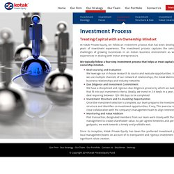 Private Equity Investment Process - Kotak Private Equity